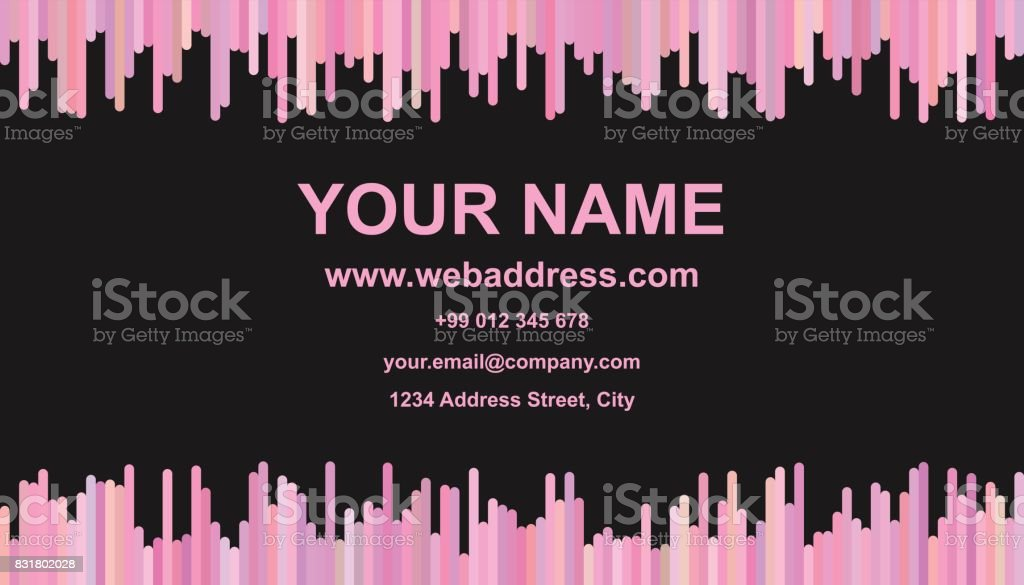 Business Card Template Design Vector Name Card Graphic With Vertical ...
