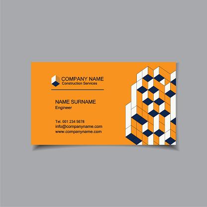 Business card template design. Vector