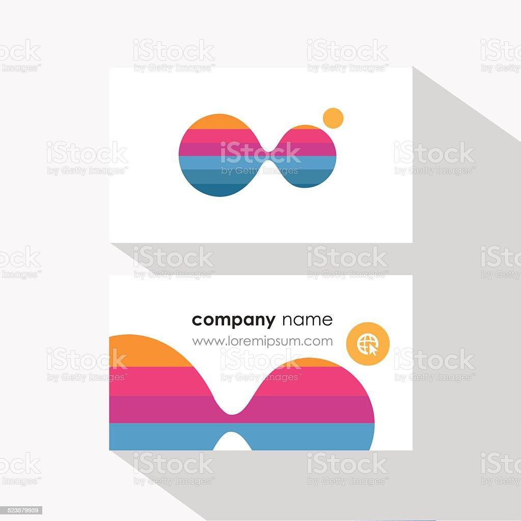 Modele De Carte Visite Design Avec Particules Multicolores Molecule Separation