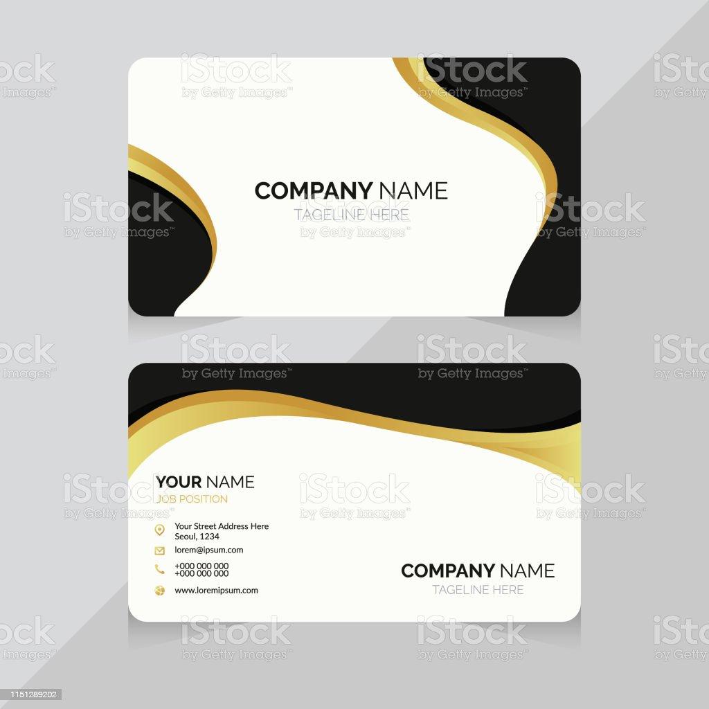 Visitenkartenvorlage Doppelseitiges Design Stock Vektor Art