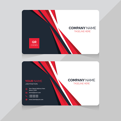 Business card template. Double sided design