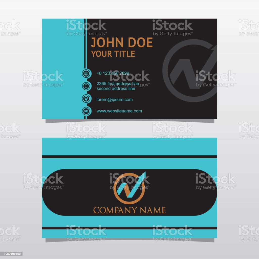 Business Card Template Double Sided Stock Vector Art & More Images ...