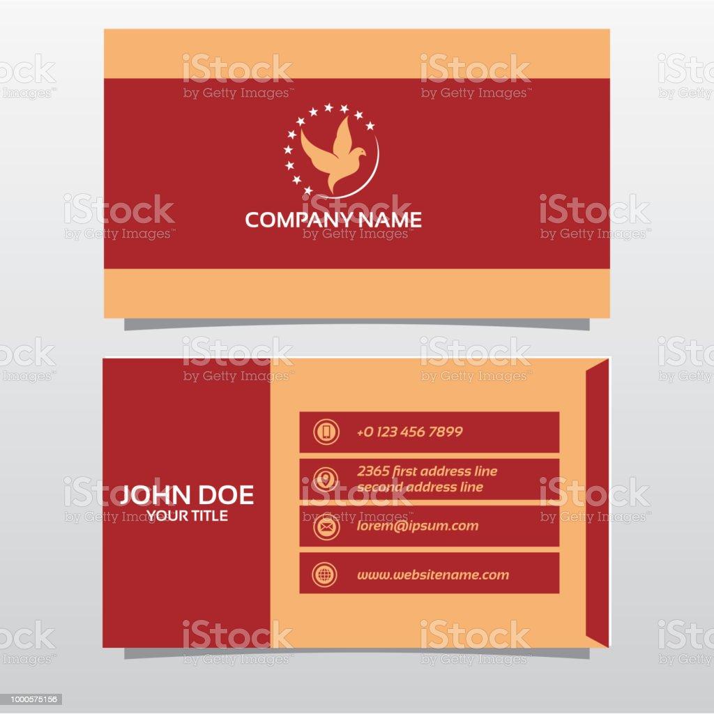 Visitenkarte Doppelseitig Vorlage Stock Vektor Art Und Mehr