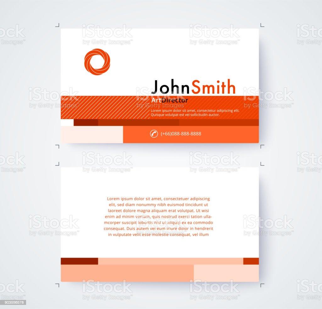 Modele De Carte Visite Pour Design Commercial Sur Fond Blanc Illustration Vectorielle