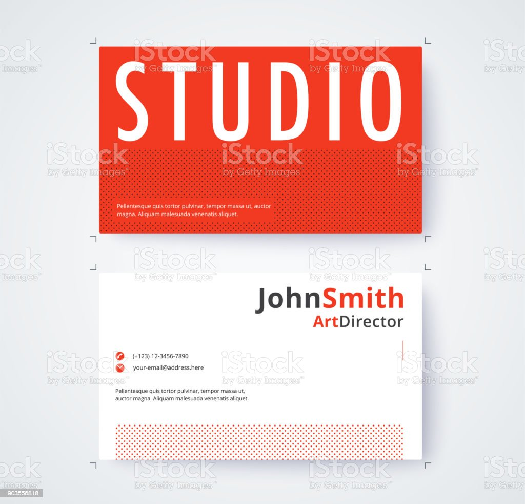 Business Card Template For Commercial Design On White Background Vector Illustration Royalty Free