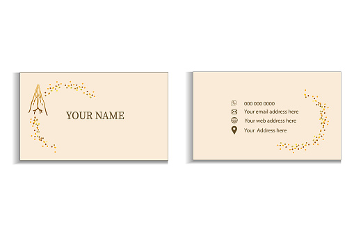 Business card template for design and also for lifestyle, bloggers, creative entrepreneurs, yoga studios, spa, religious institutions.