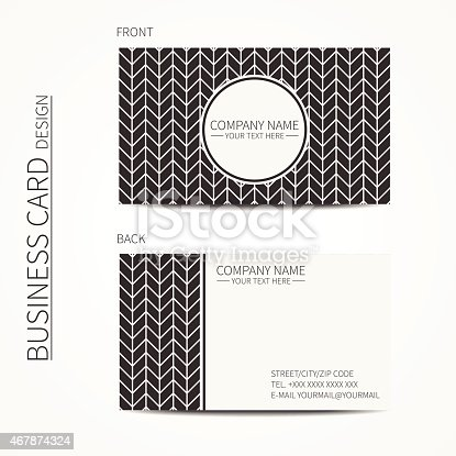 Business Card Template For Design Pattern With Chevron Calling Card ...