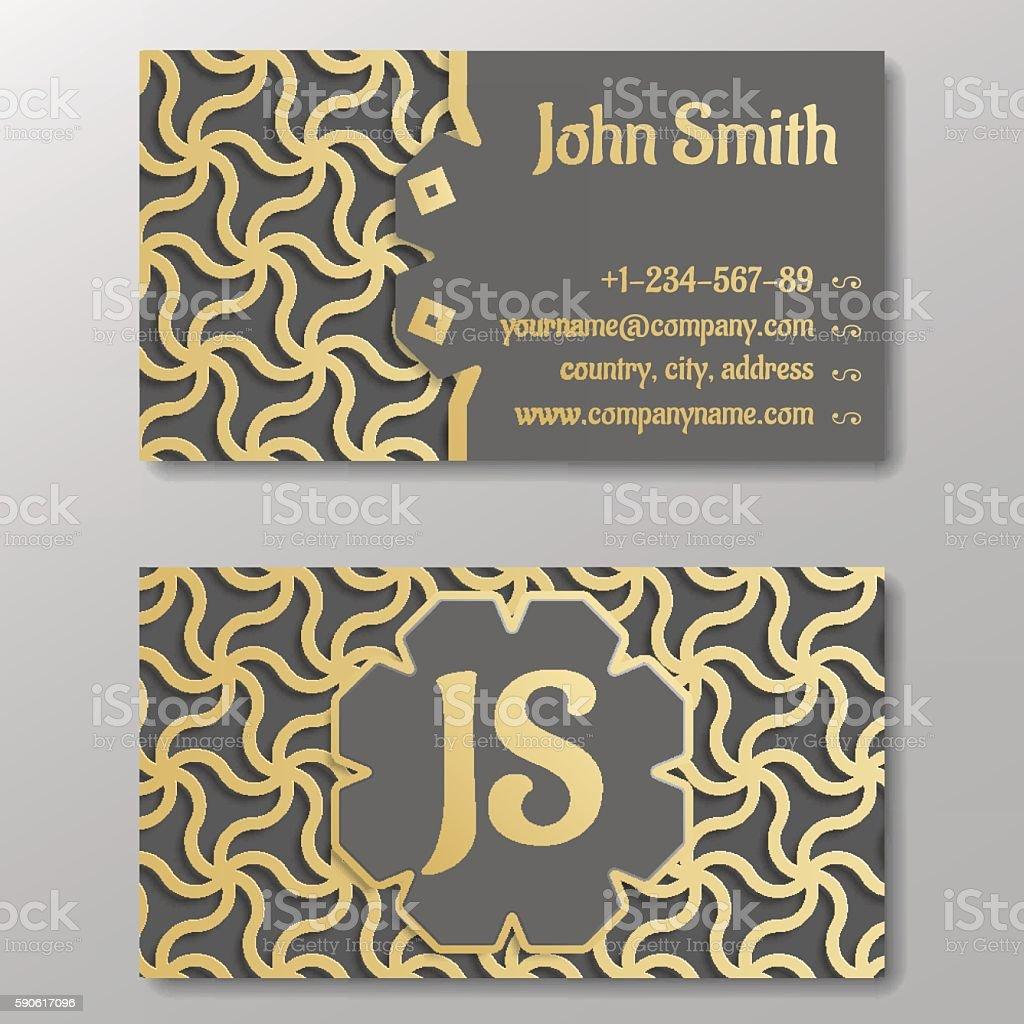 Business card template gold arabic pattern arte vetorial de acervo business card template gold arabic pattern business card template gold arabic pattern arte vetorial reheart Image collections