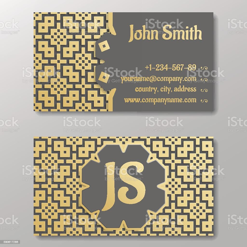 Business card template gold arabic pattern stock vector art more business card template gold arabic pattern royalty free business card template gold arabic pattern colourmoves