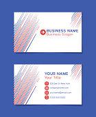 Business card template line idea.
