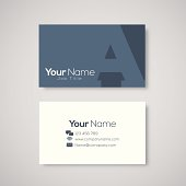 Business card template letter A