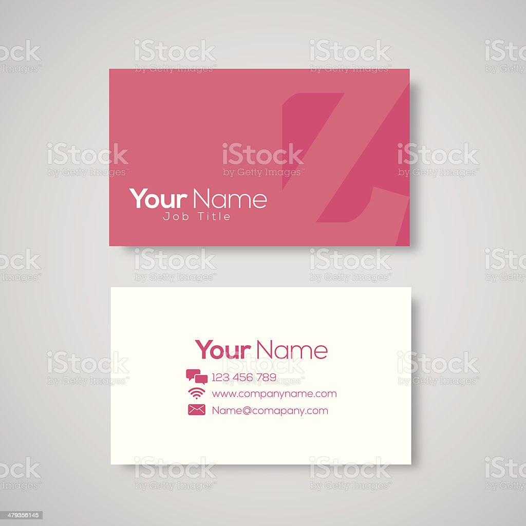 Business card template letter Z royalty-free stock vector art