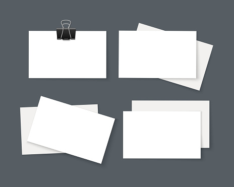 Business card stock illustrations