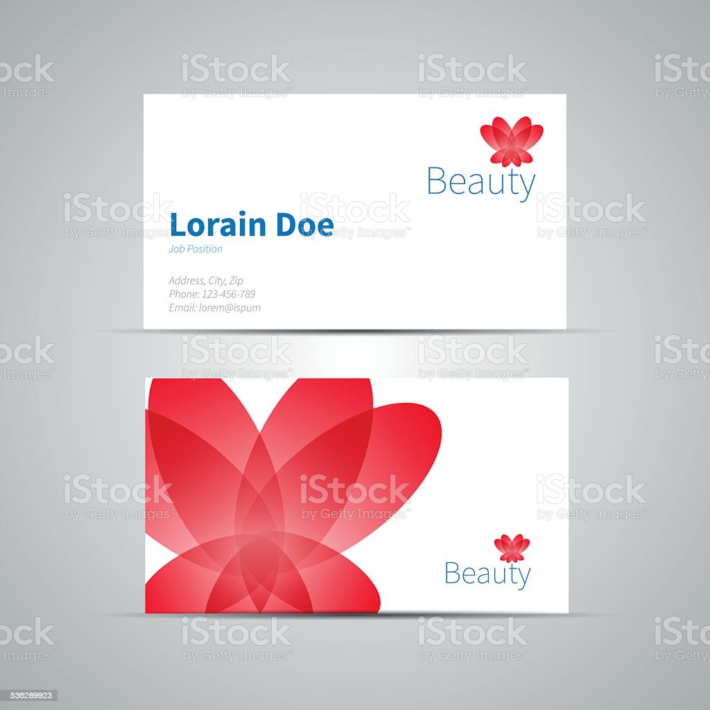 Business Card Template Vector Icon For Beauty Industry stock ...