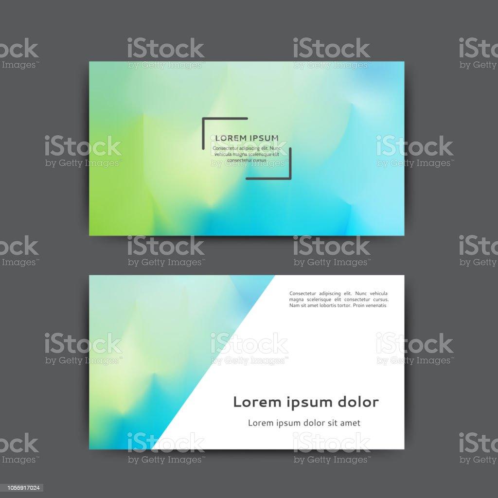 Visitenkarten Vorlage Stock Vektor Art Und Mehr Bilder Von