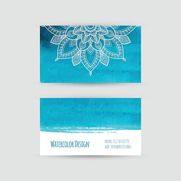 Plantilla de tarjeta de visita. - ilustración de arte vectorial