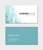 Business card template, vector illustration.