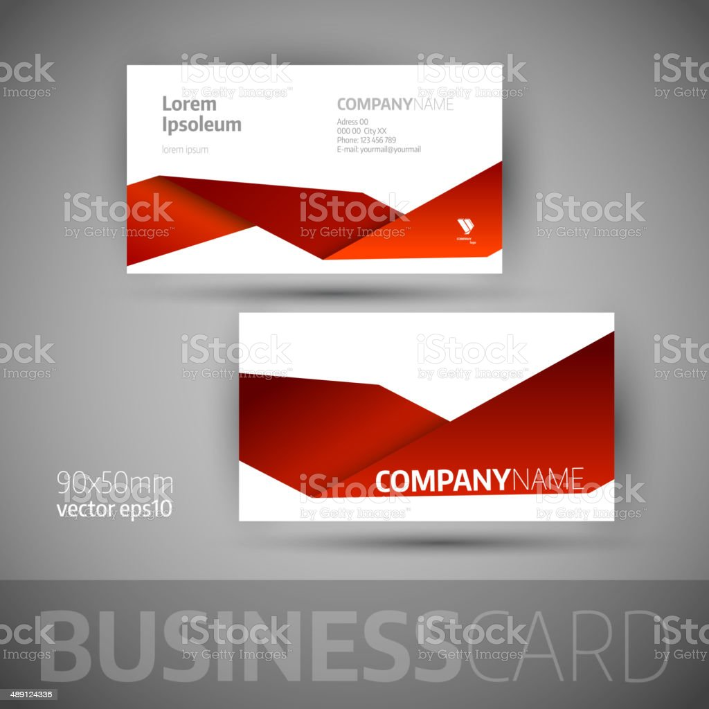 Business Card Template stock vector art 489124336   iStock