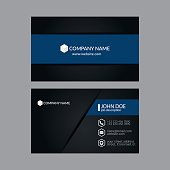 Eps10 Vector Illustration Abstract Elegant Business Card Template.