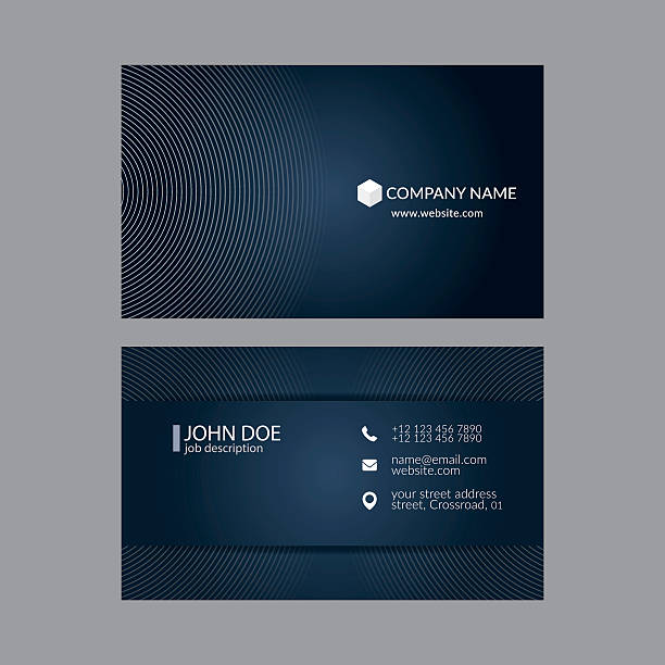 Royalty Free Editable Business Card Template Clip Art Vector Images