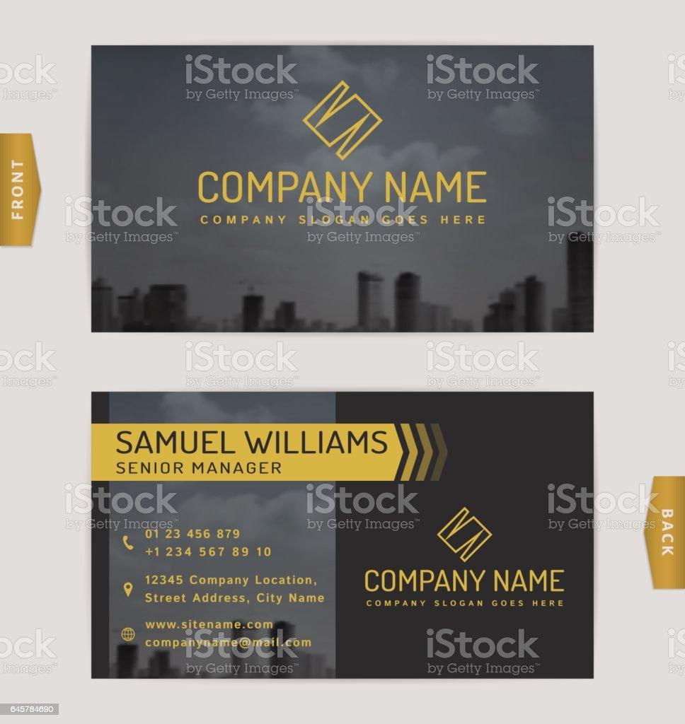 Business card template. vector art illustration