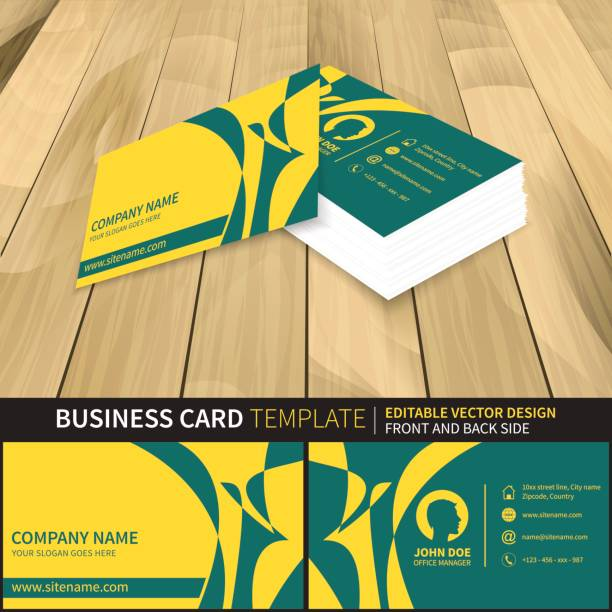 business card template vector art illustration