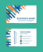 Business card template line idea.