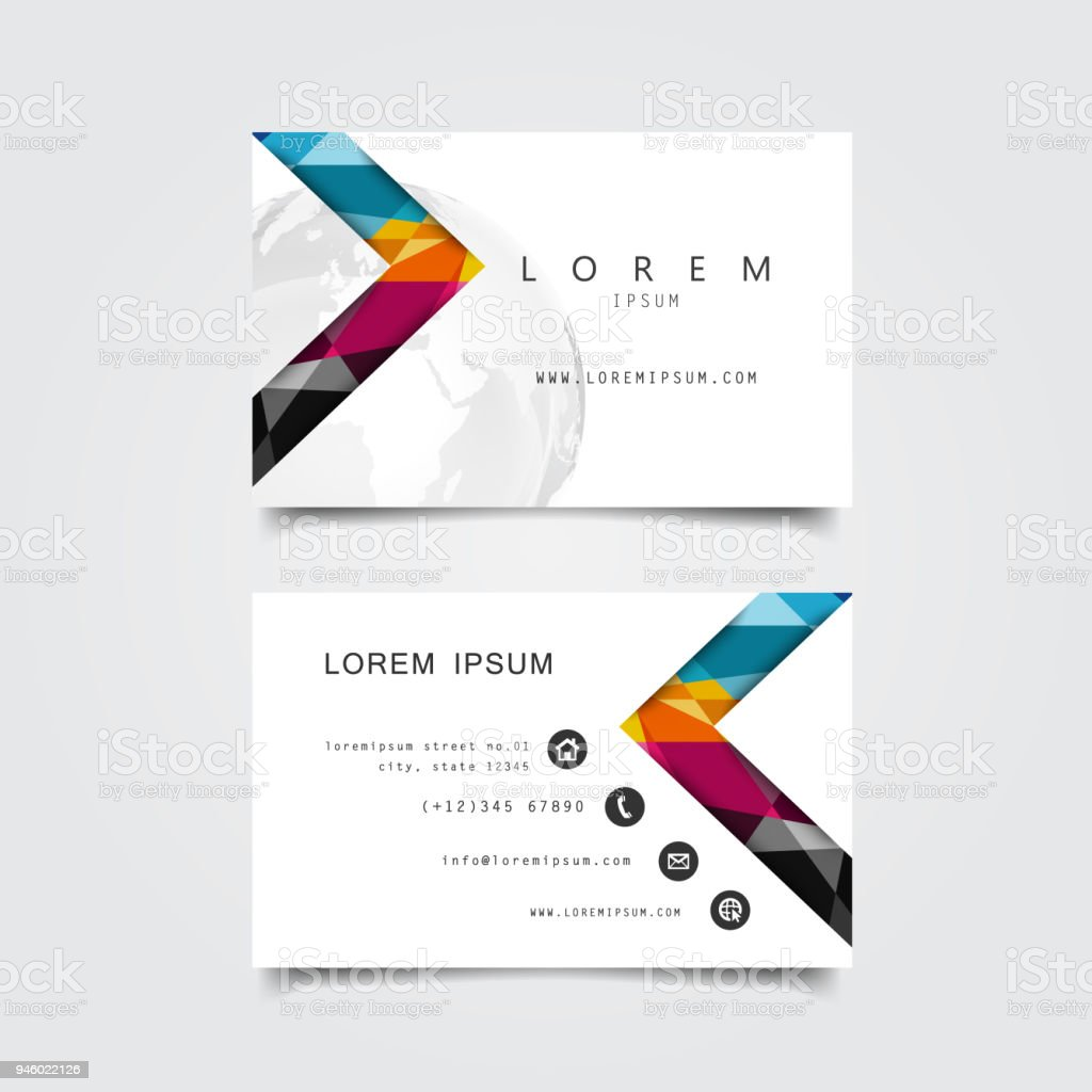 Business Card Template Stock Illustration Download Image