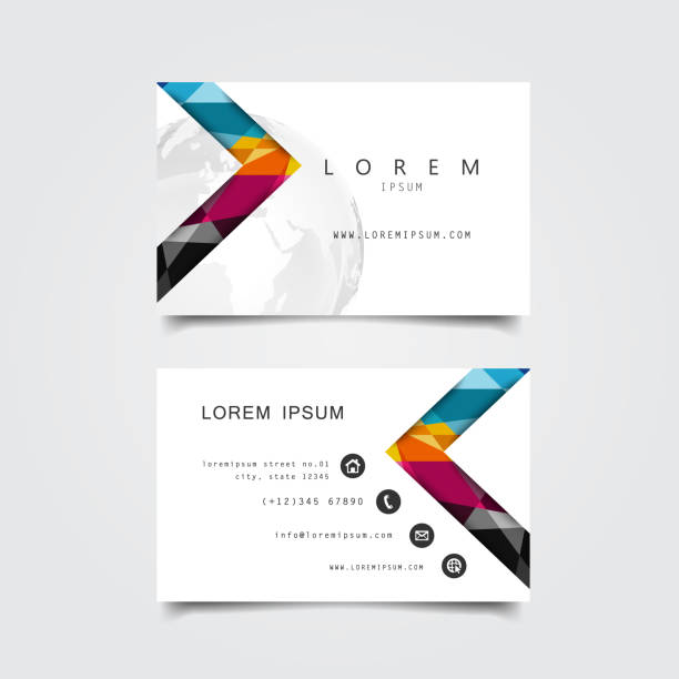 business card template - business cards templates stock illustrations