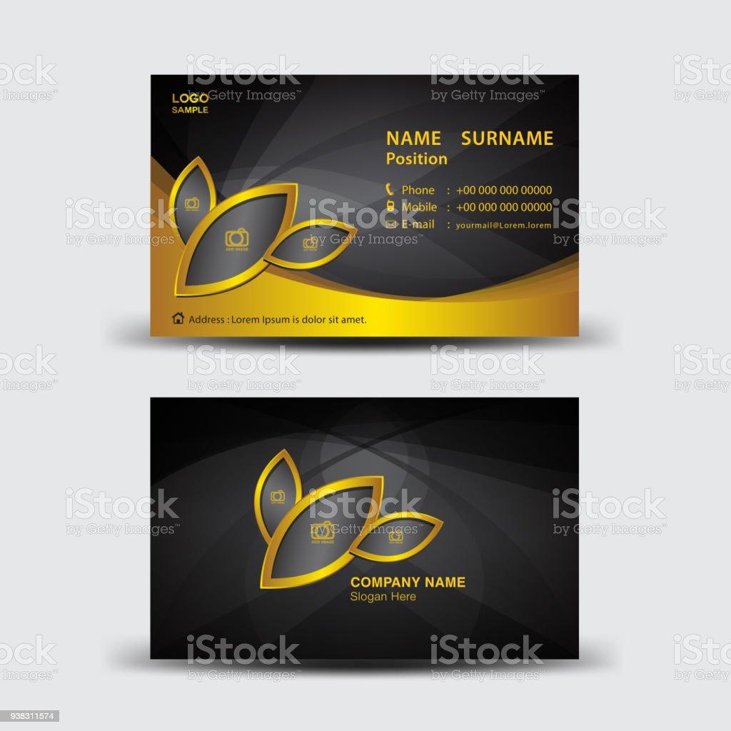 Business Card Template Vector Illustration Flyer Design Name Card ...