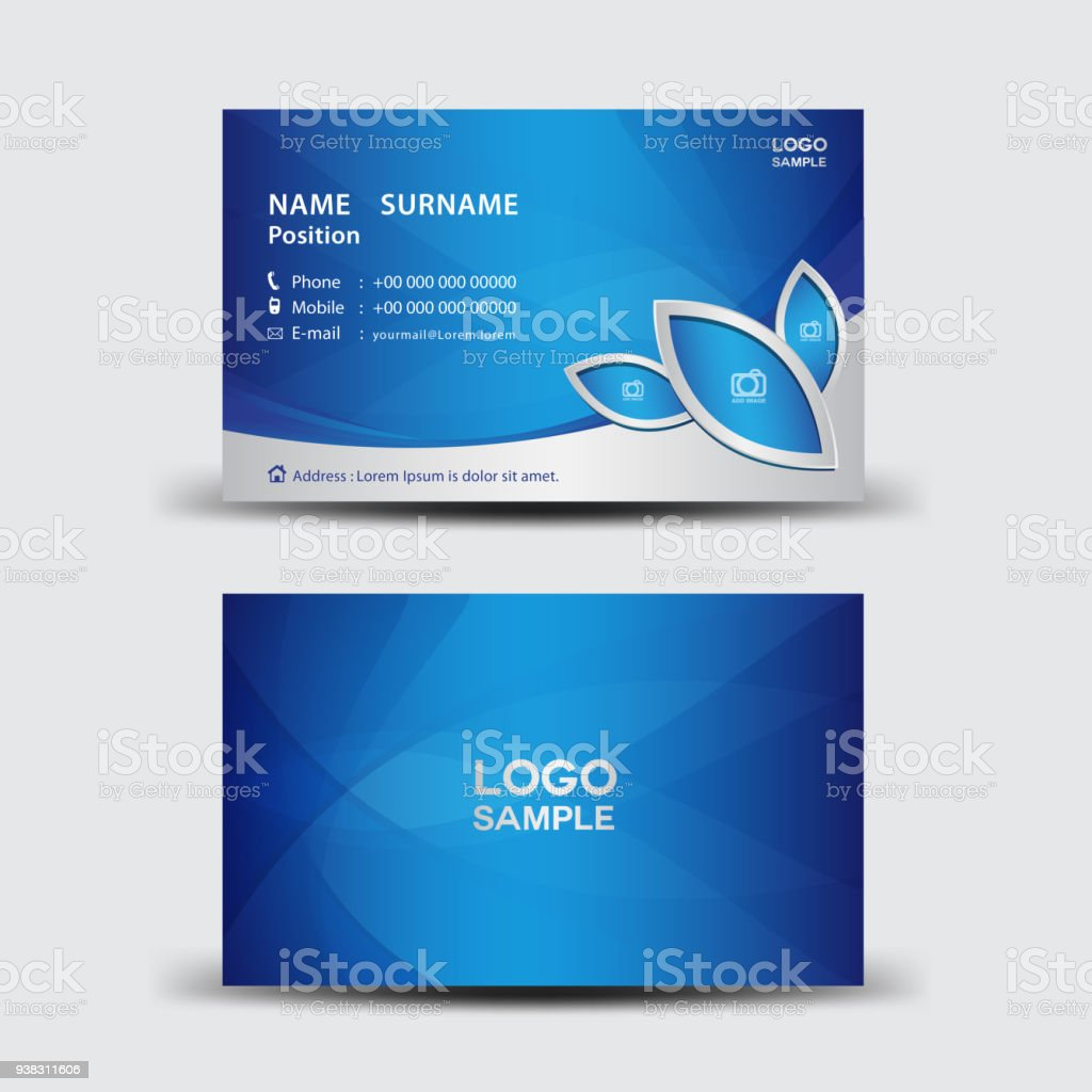 Business card template vector illustration flyer design name card business card template vector illustration flyer design name card layout corporate id card flashek Image collections