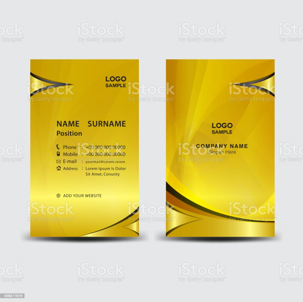 Business card template vector illustration flyer design name card business card template vector illustration flyer design name card layout corporate id card reheart Choice Image