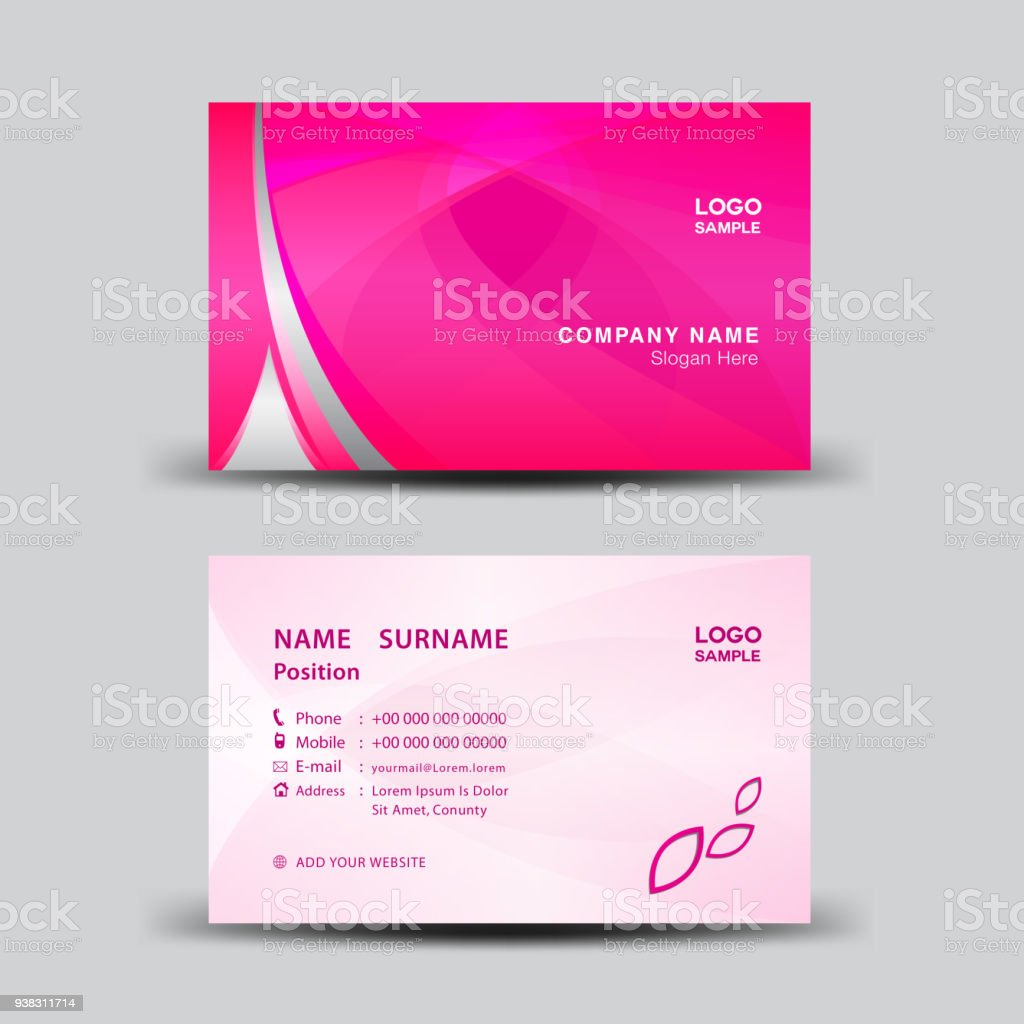 Business Card Template Vector Illustration Flyer Design Name Card ...