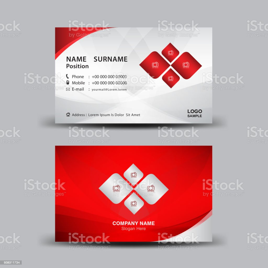 Business card template vector illustration flyer design name card business card template vector illustration flyer design name card layout corporate id card reheart Images