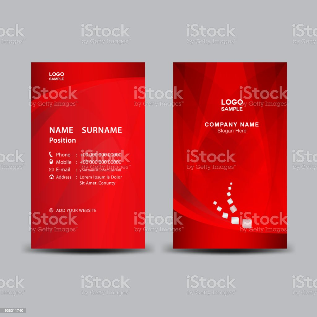 Business card template vector illustration flyer design name card business card template vector illustration flyer design name card layout corporate id card cheaphphosting Images