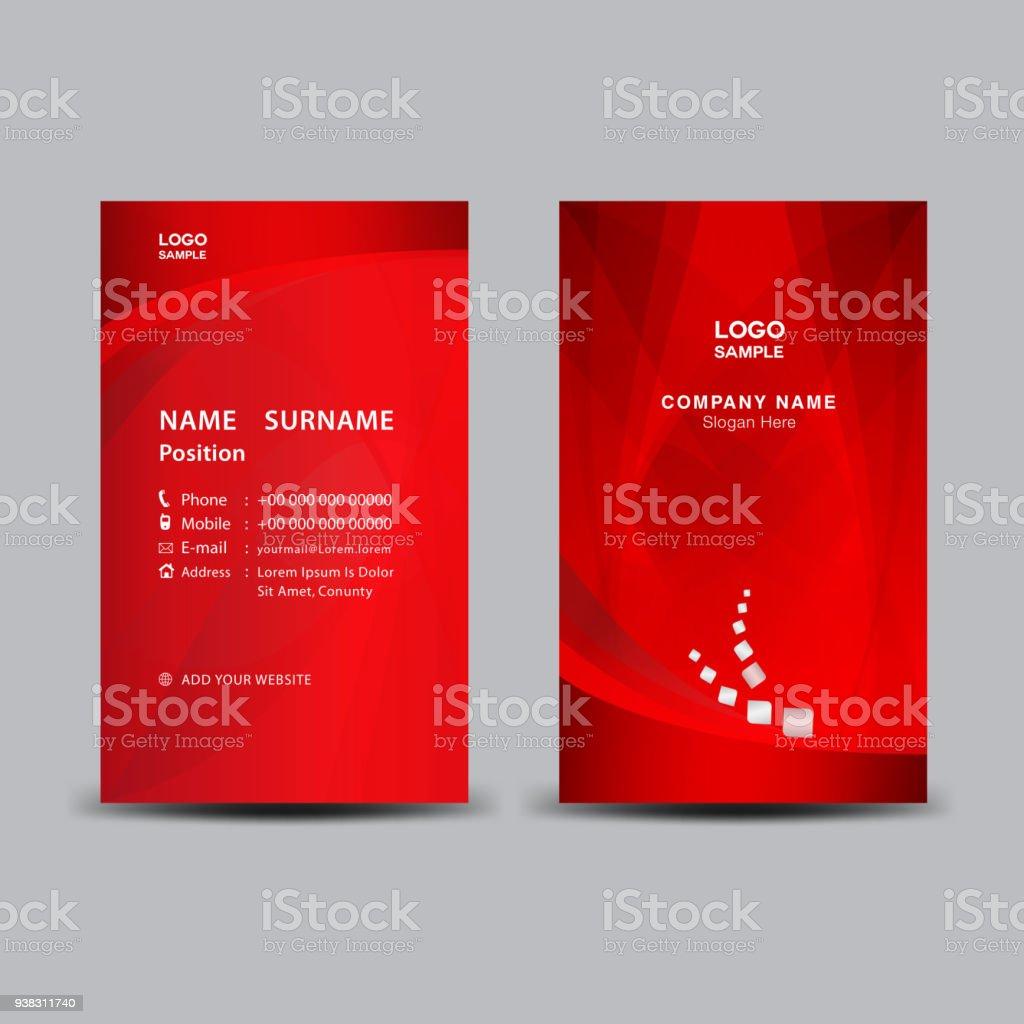 Business card template vector illustration flyer design name card business card template vector illustration flyer design name card layout corporate id card flashek Choice Image