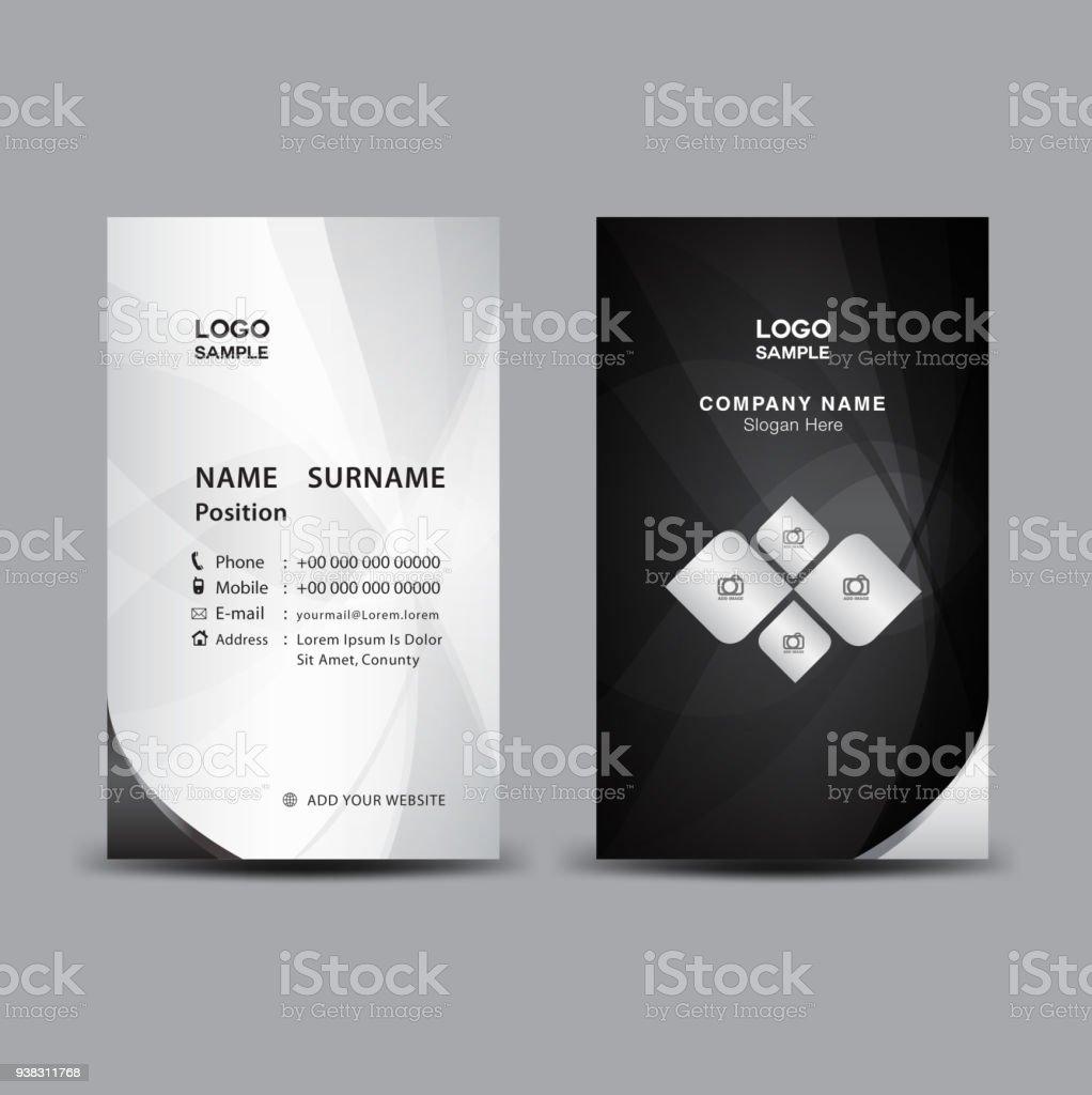 Visitenkartevorlagevektorillustration Flyer Design Name