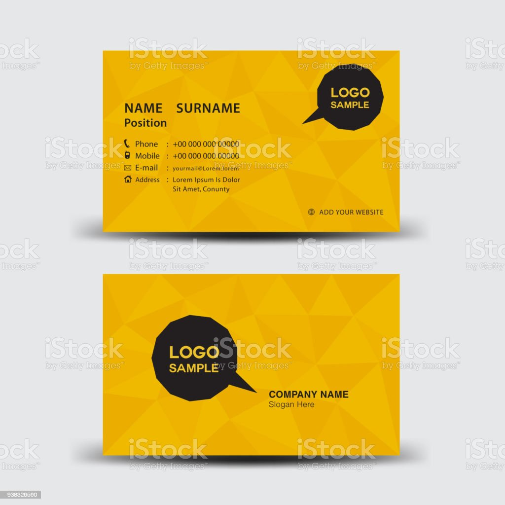 Business card template vector illustration flyer design name card business card template vector illustration flyer design name card layout corporate id card reheart Gallery