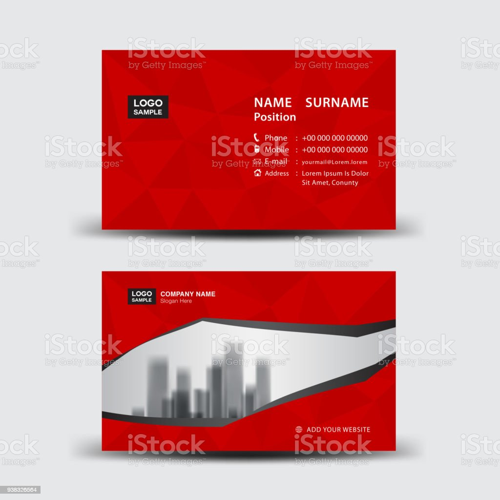 Business card template vector illustration flyer design name card business card template vector illustration flyer design name card layout corporate id card accmission Images