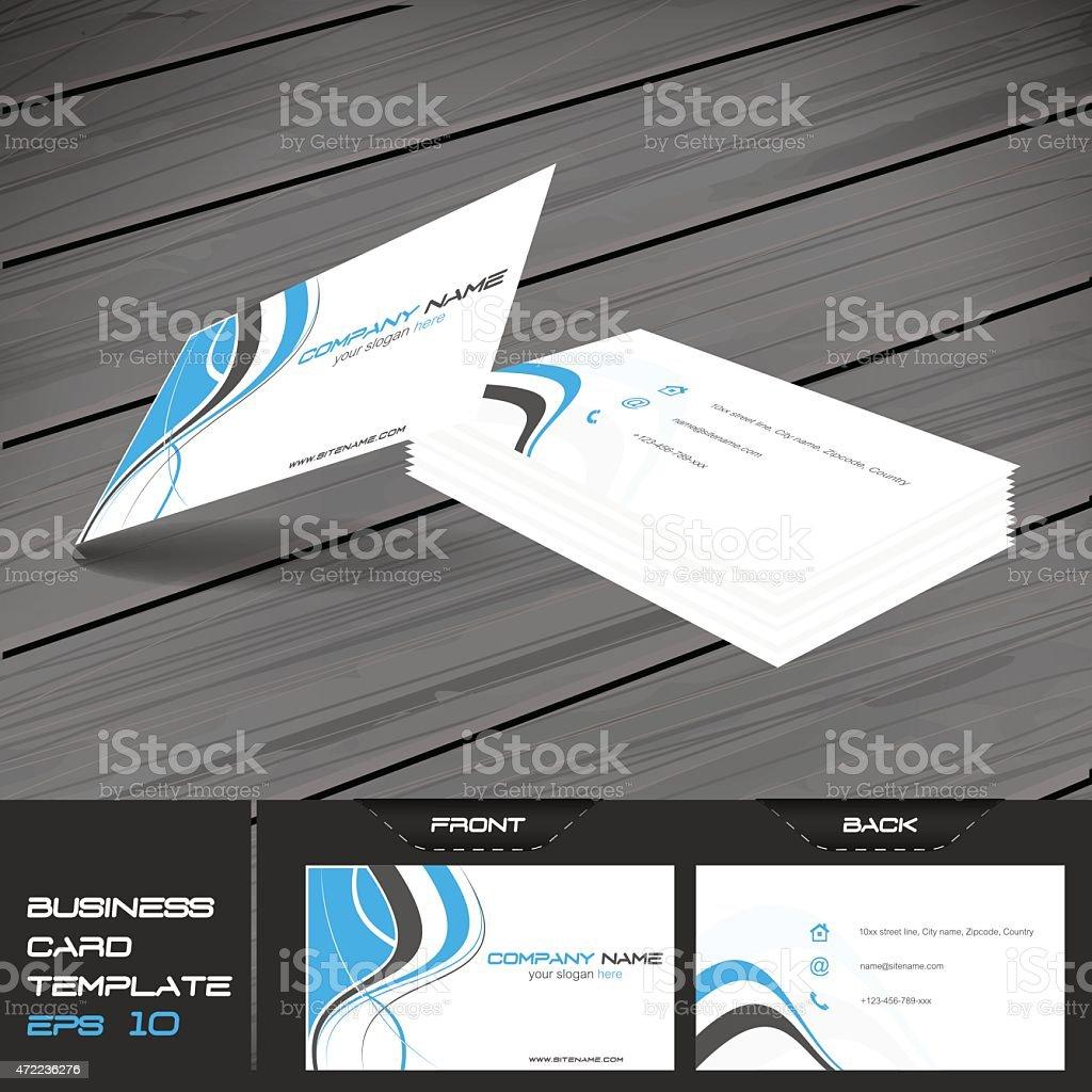 Business card template, vector illustration vector art illustration