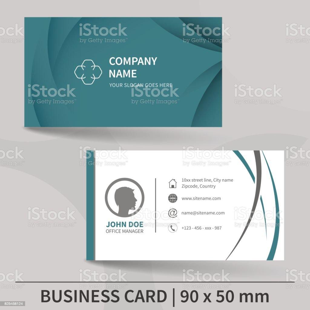 Business card template. Vector illustration. vector art illustration