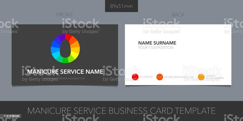 Visitenkartenvorlagenvektorlayout Für Das Nägel Stock Vektor