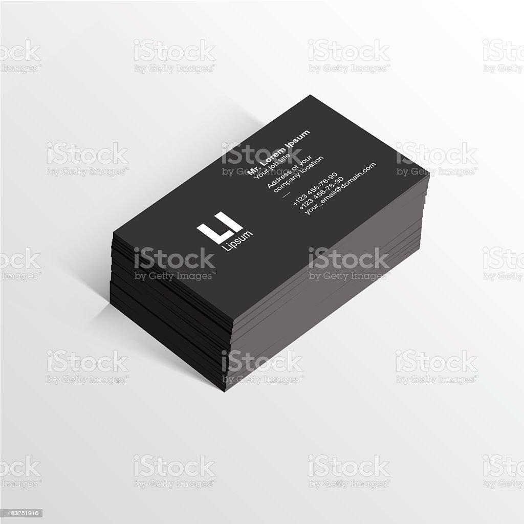 Business card template vector vector art illustration