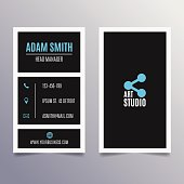 Modern, sleek and minimalistic Business card template. Dimensions - 3,5x2 inches,