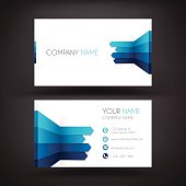 Business Card template with a Infographic Design.