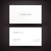 Business card template with diagonal lines.