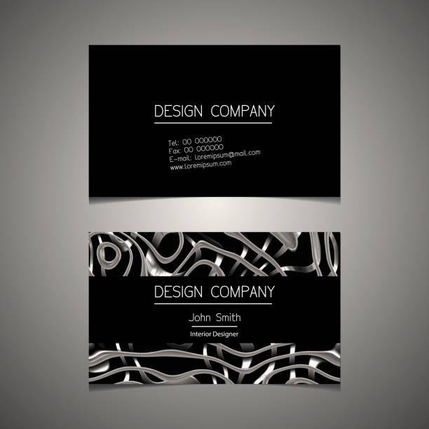 Business card template with an elegant design vector art illustration