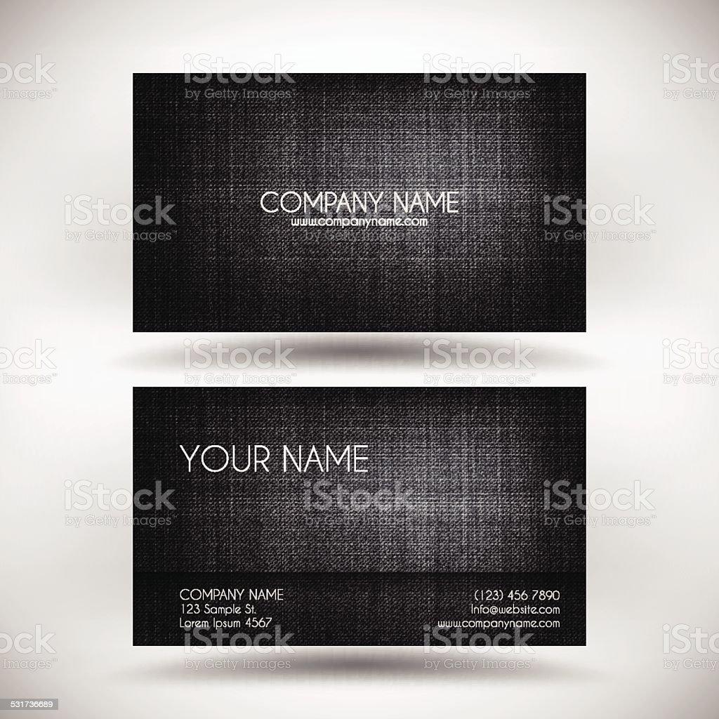 Modele De Cartes Visite Avec Des Touches Noir Texture Type Toile