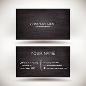 Business Card template with chalkboard texture.