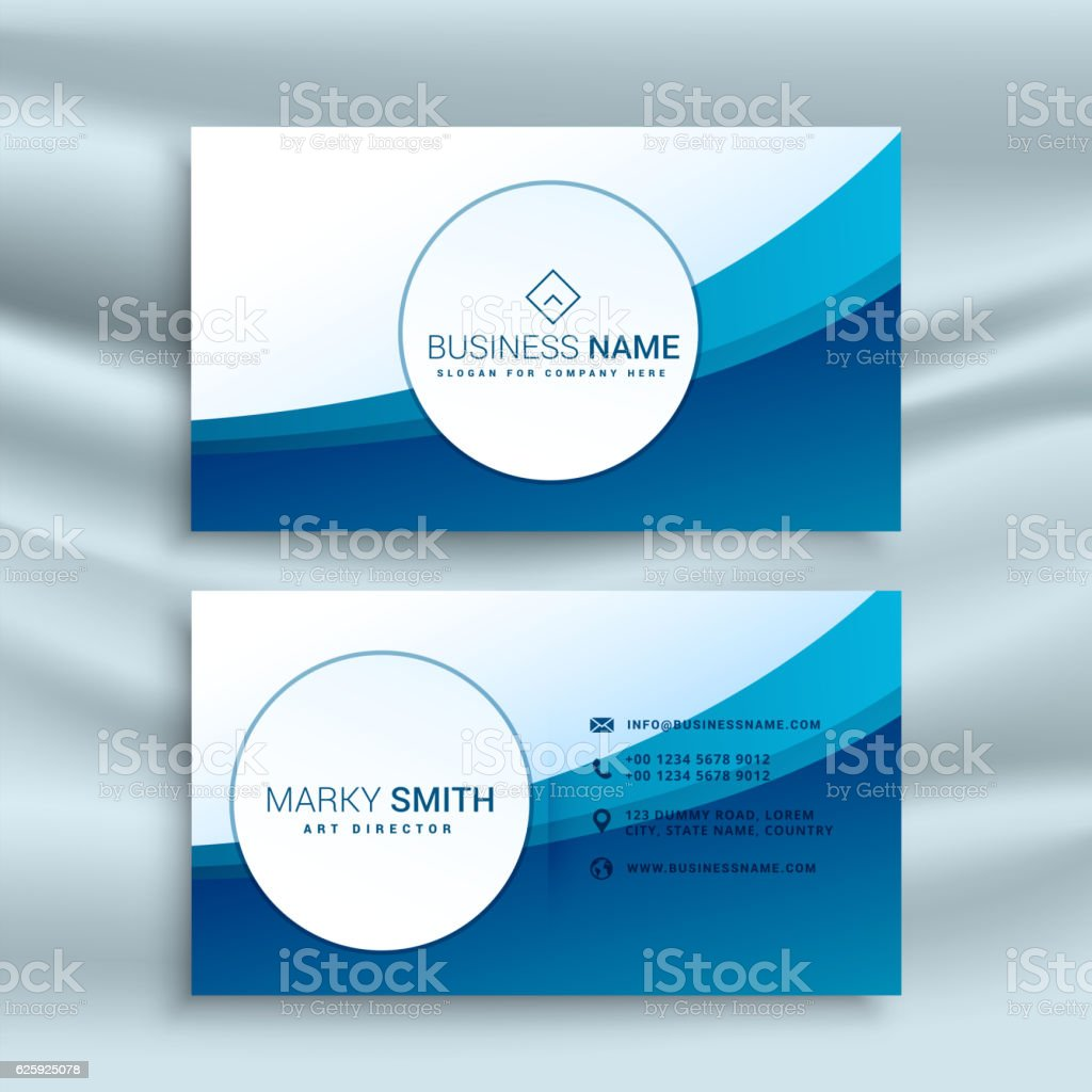 Business card template with blue abstract wave stock vector art business card template with blue abstract wave royalty free business card template with blue abstract wajeb Choice Image